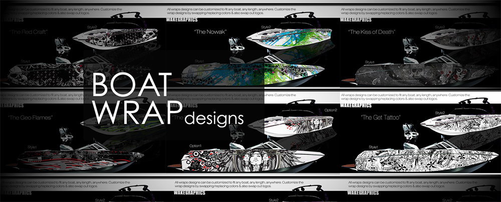 Boat Wraps Marine Vinyl Graphics Wake Graphics - Vinyl stickers for rc boats