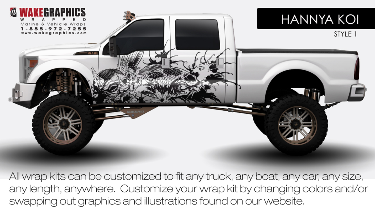 Truck Wraps Kits Vehicle Wake Graphics 2015 Chevy Paint Colors Koi Action Style 1
