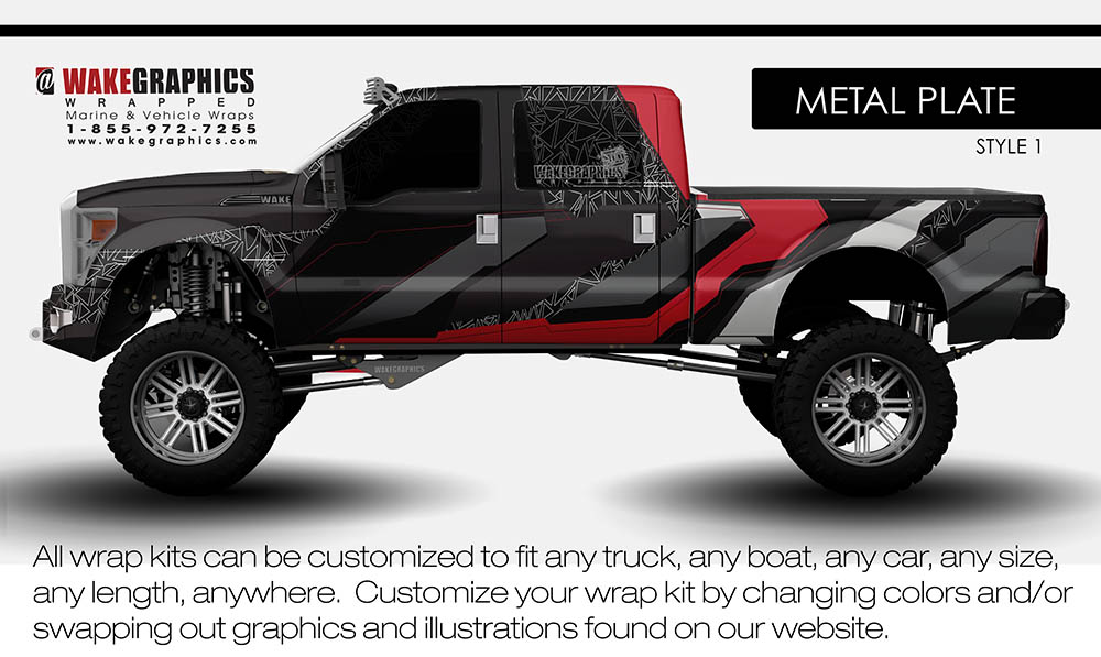 Truck Wraps Kits Vehicle Wraps Wake Graphics - Truck bed decals custom
