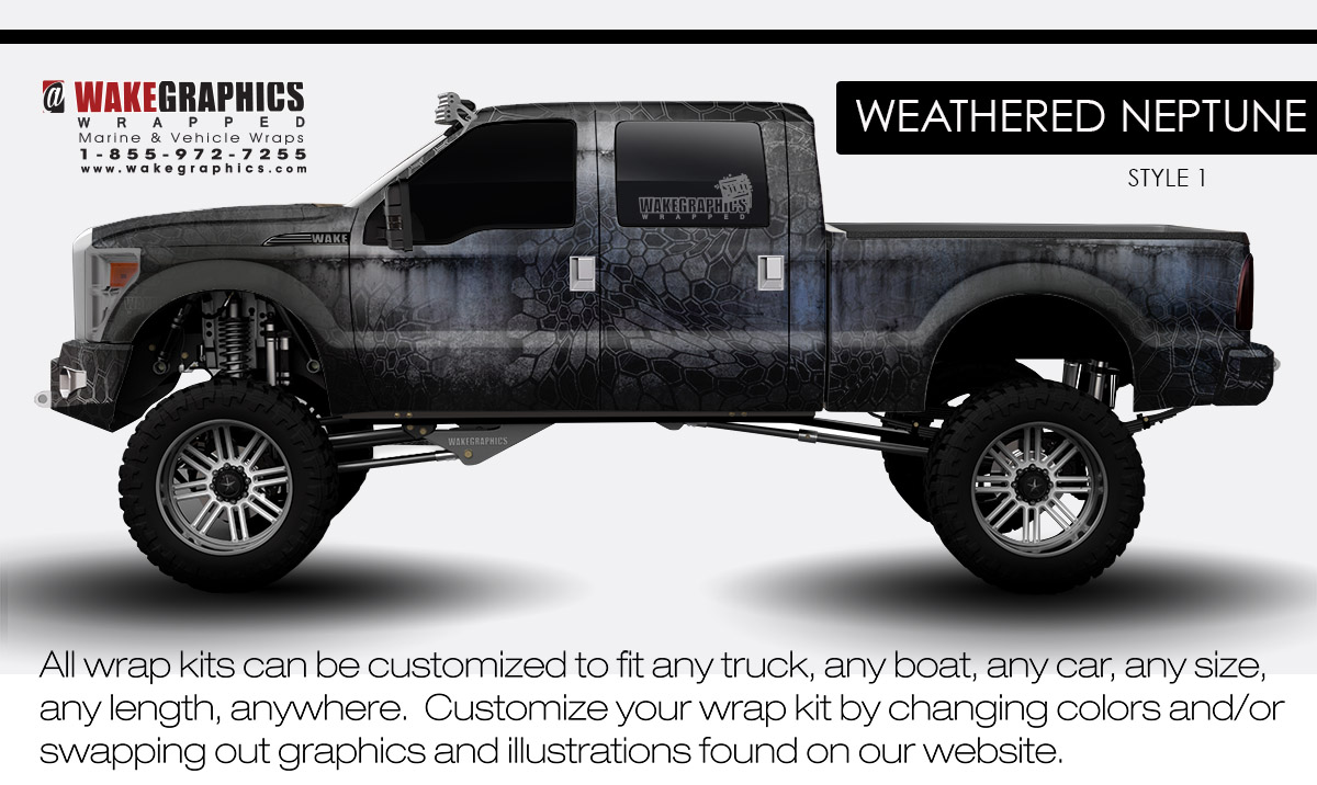 2000 Ford F150 4x4 >> Truck Wraps Kits | Vehicle Wraps | Wake Graphics